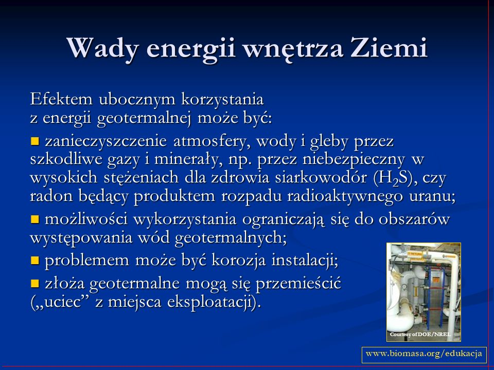 Wady energii wnętrza Ziemi
