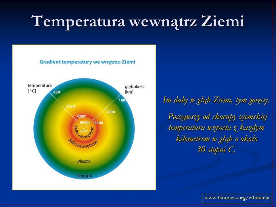 Temperatura wewnątrz Ziemi