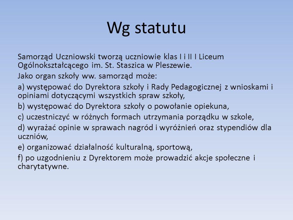 Wg statutu