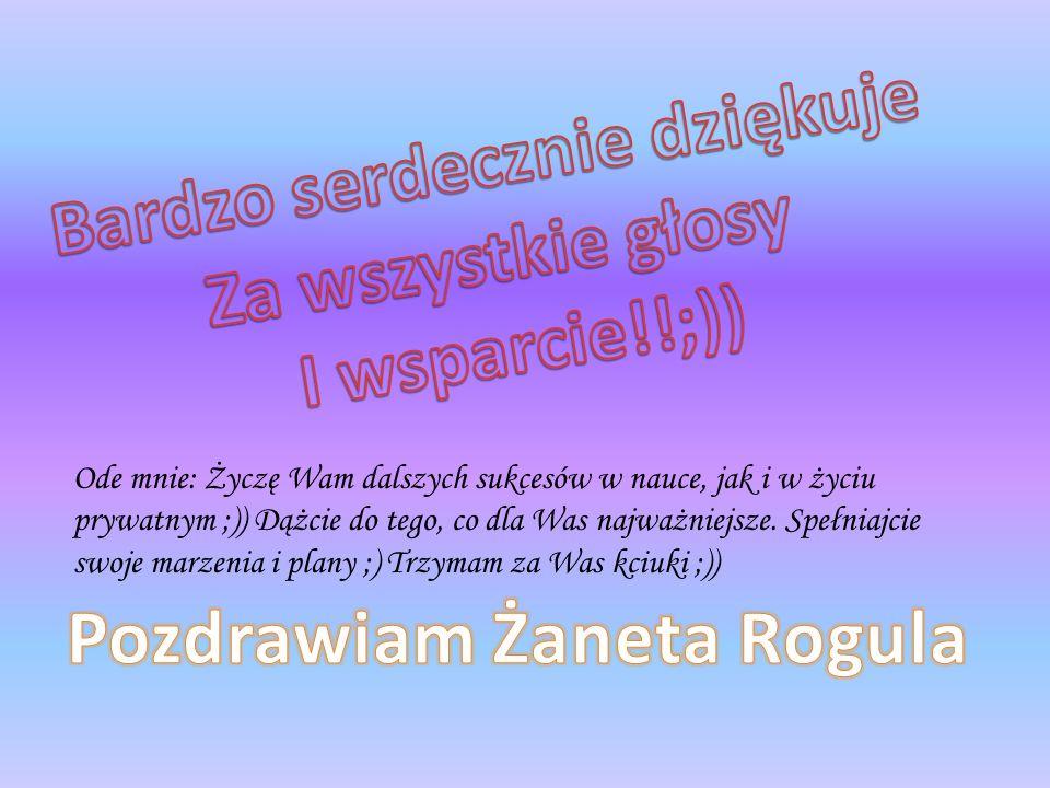 Bardzo serdecznie dziękuje Pozdrawiam Żaneta Rogula