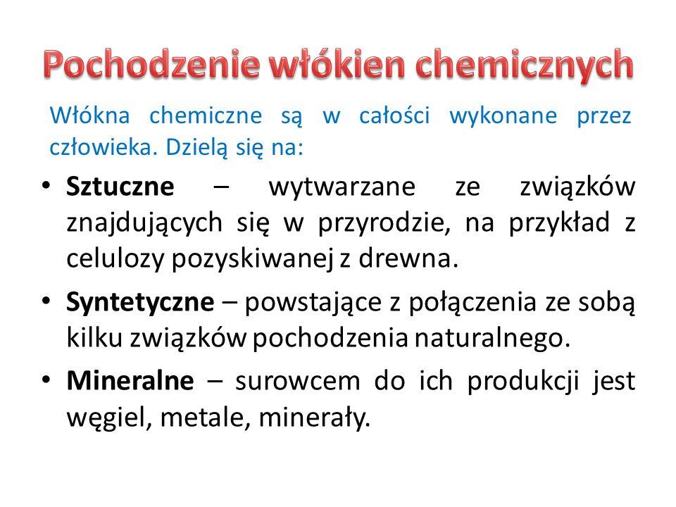 Pochodzenie włókien chemicznych