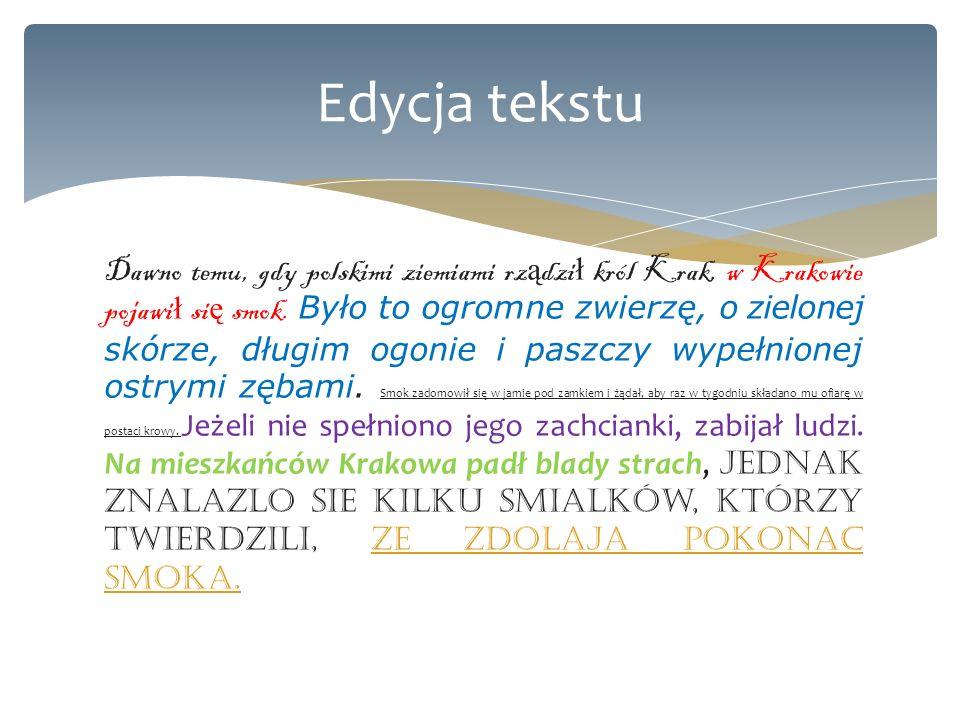 Edycja tekstu