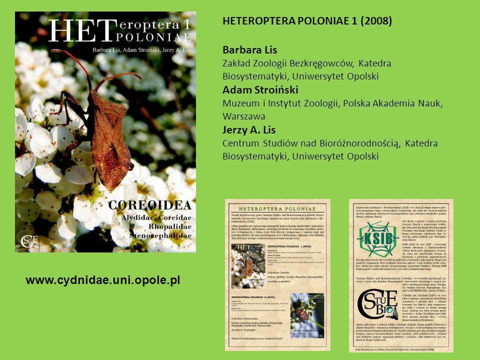 HETEROPTERA POLONIAE 1 (2008) Barbara Lis