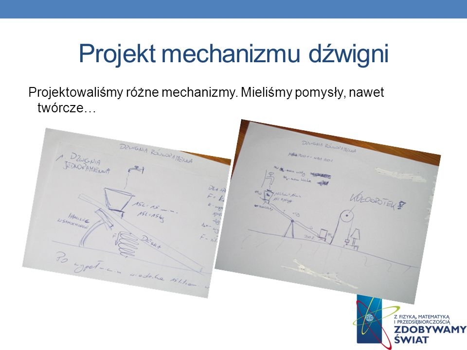 Projekt mechanizmu dźwigni