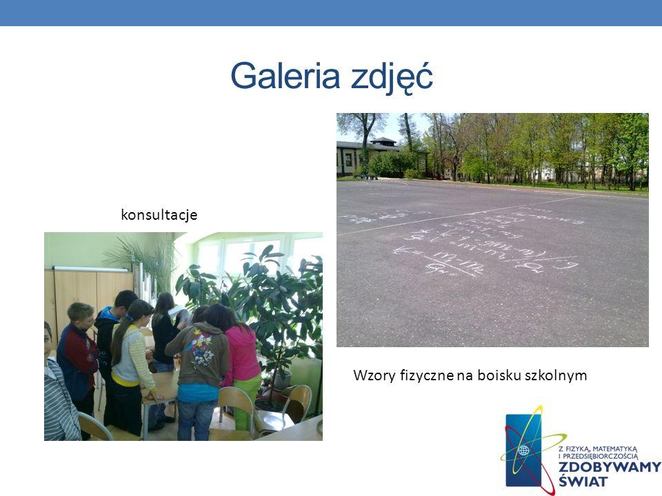 Galeria zdjęć konsultacje Wzory fizyczne na boisku szkolnym