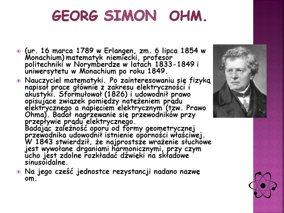 Georg Simon Ohm.