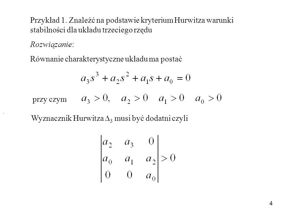 Równanie charakterystyczne układu ma postać