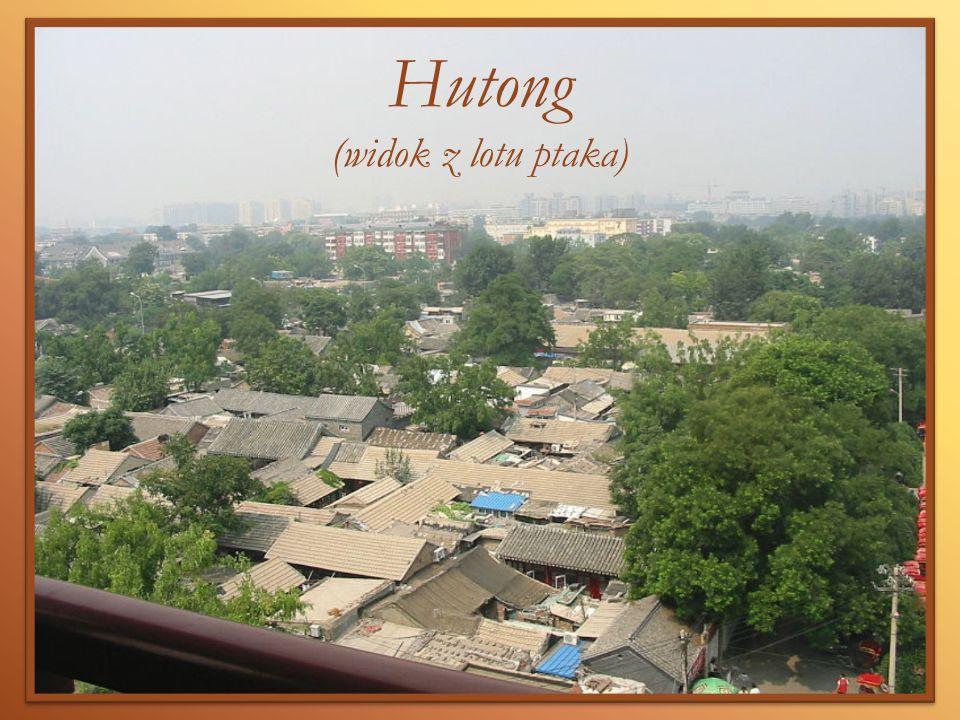 Hutong (widok z lotu ptaka)