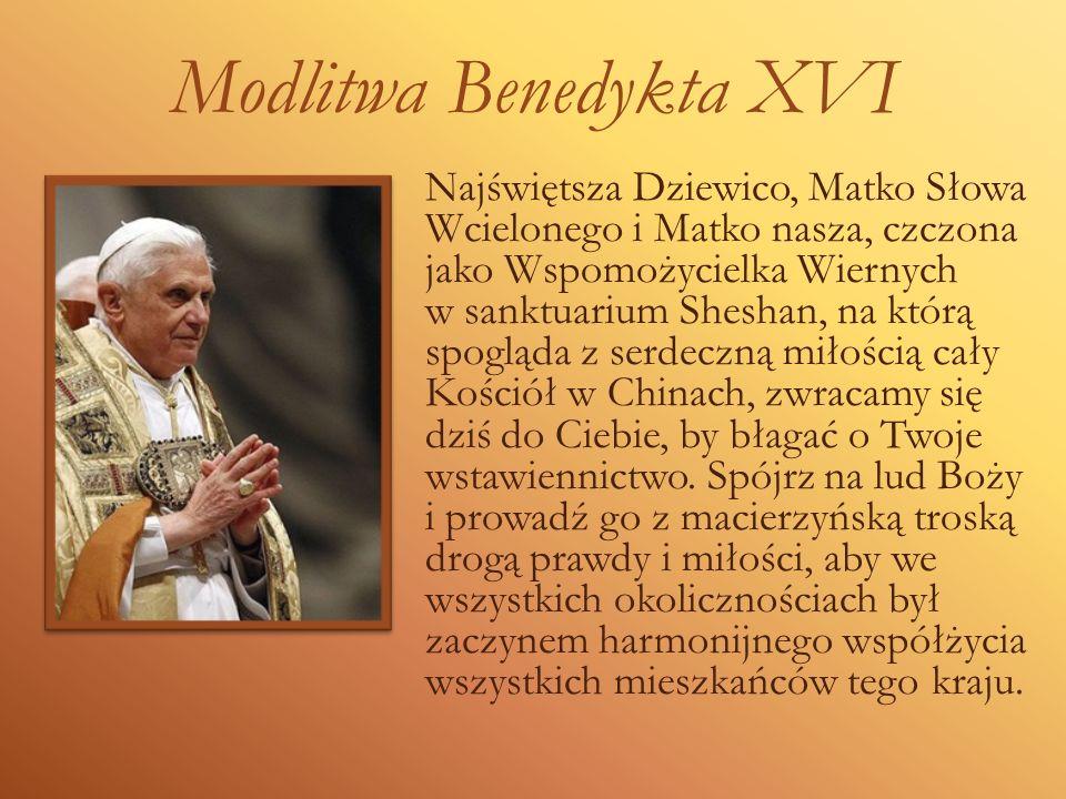 Modlitwa Benedykta XVI