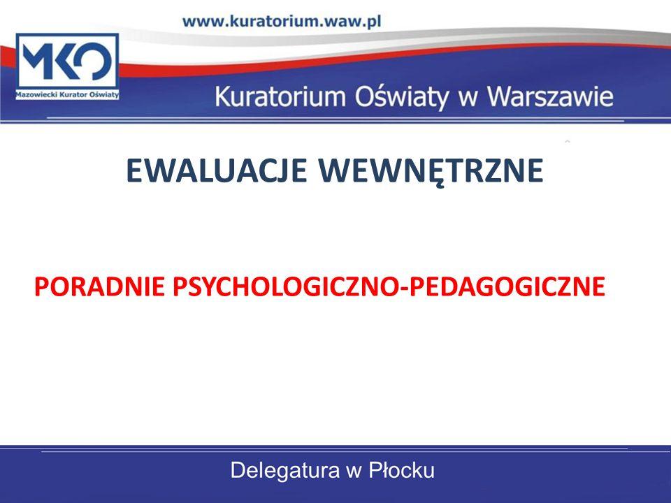 EWALUACJE WEWNĘTRZNE PORADNIE PSYCHOLOGICZNO-PEDAGOGICZNE
