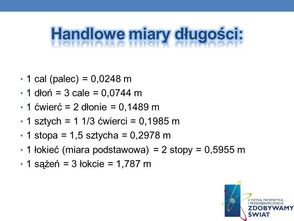 Handlowe miary długości:
