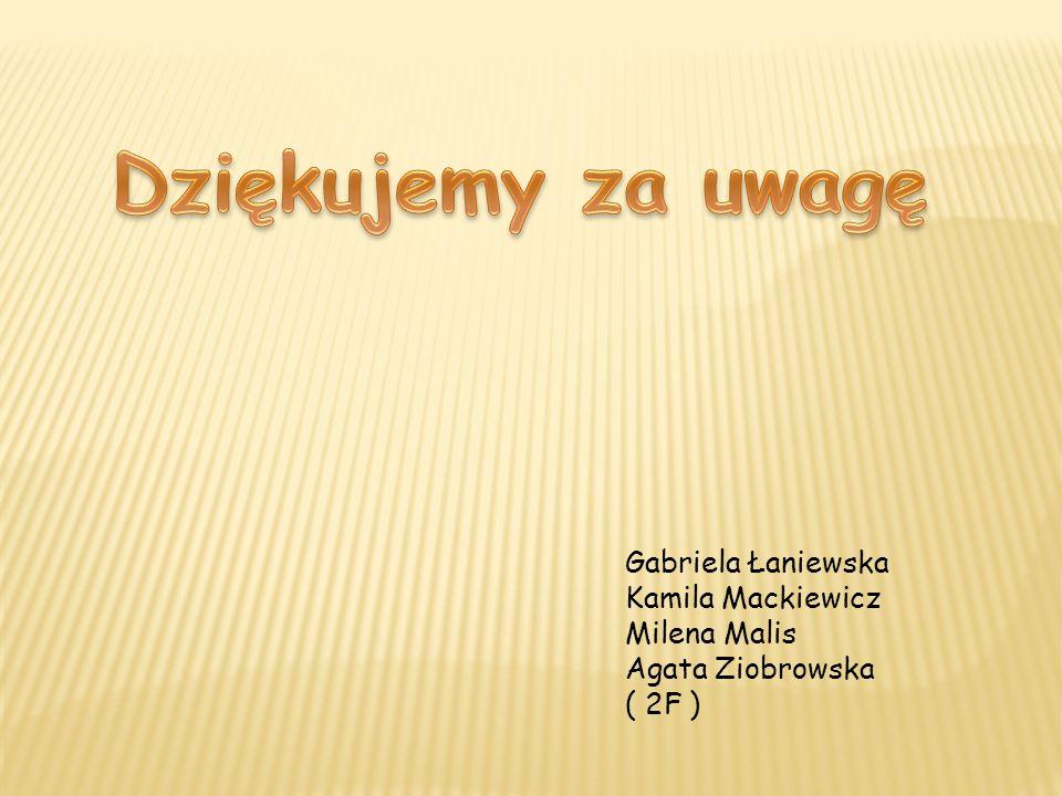 Dziękujemy za uwagę Gabriela Łaniewska Kamila Mackiewicz Milena Malis