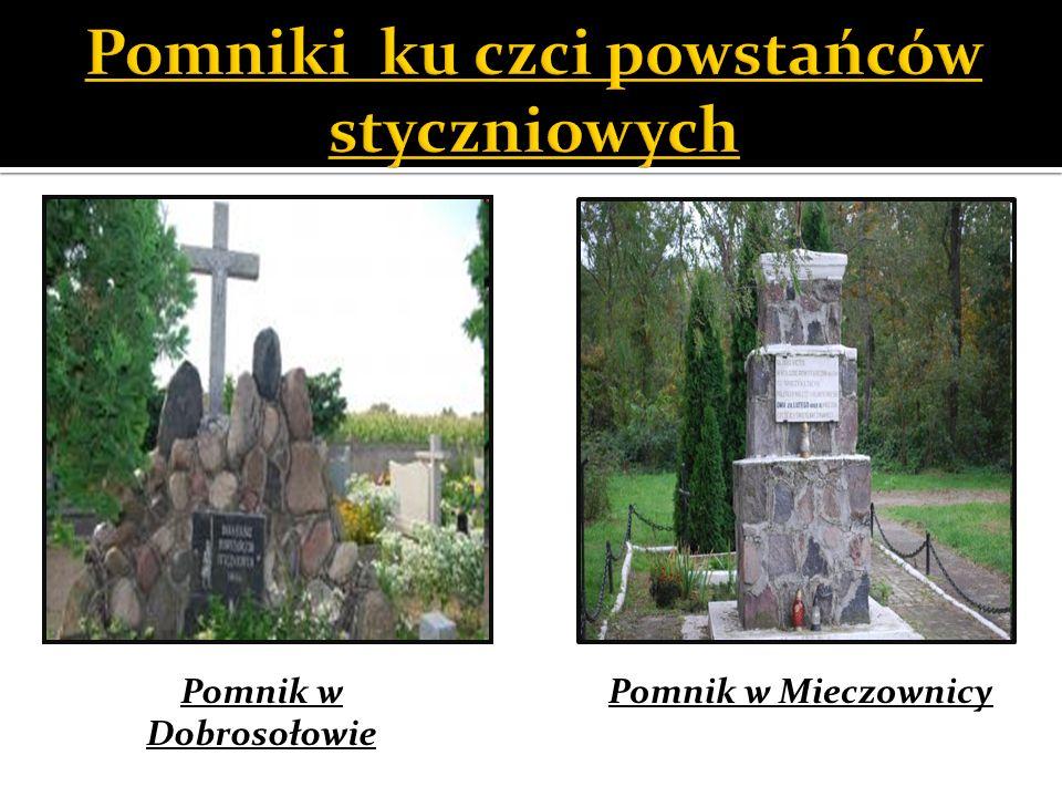 Pomniki ku czci powstańców styczniowych