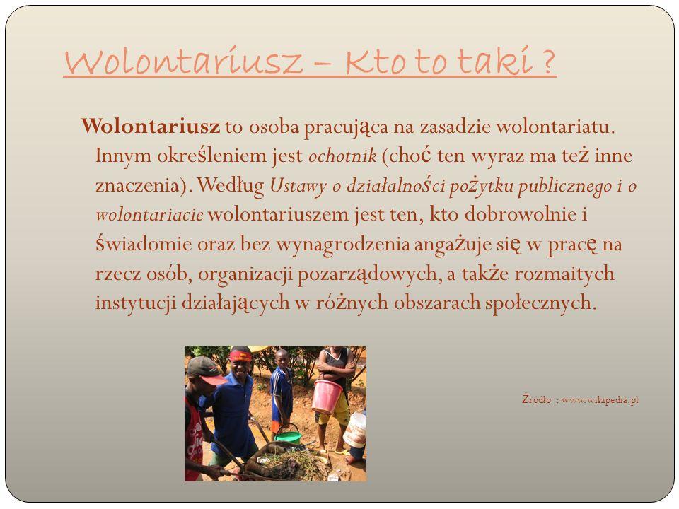 Wolontariusz – Kto to taki