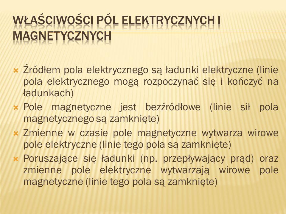 Właściwości pól elektrycznych i magnetycznych