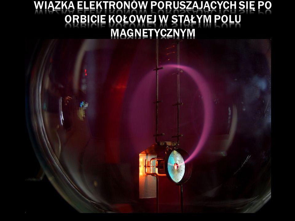 Wiązka elektronów poruszających się po orbicie kołowej w stałym polu magnetycznym