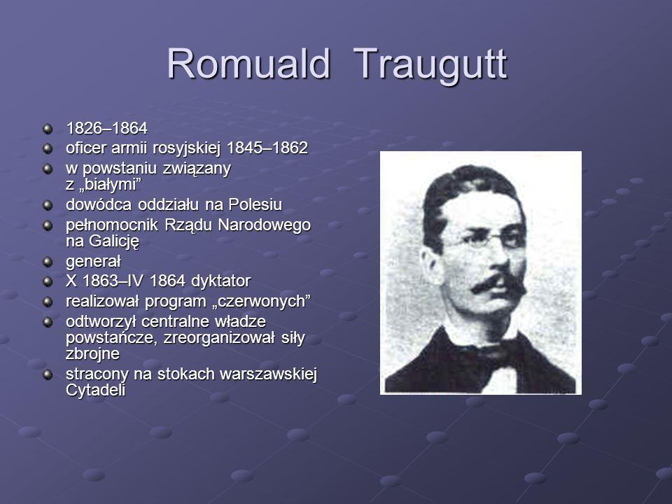 Romuald Traugutt 1826–1864 oficer armii rosyjskiej 1845–1862