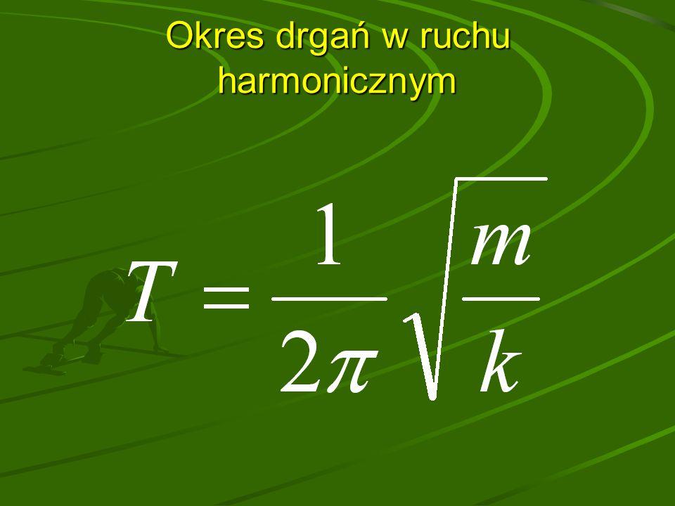 Okres drgań w ruchu harmonicznym