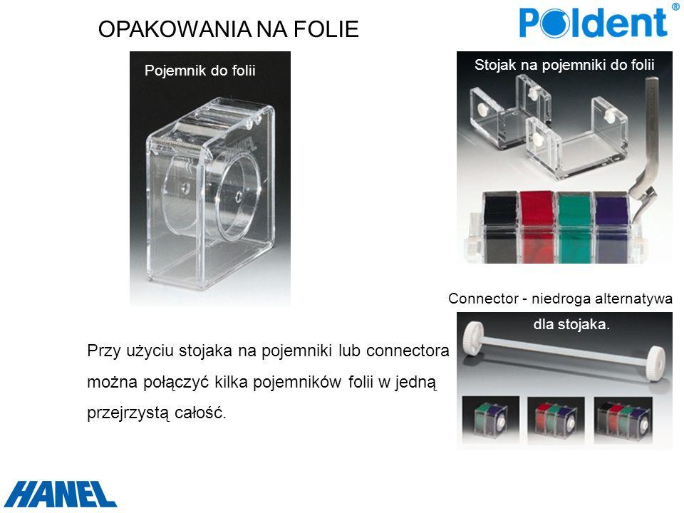 OPAKOWANIA NA FOLIE Przy użyciu stojaka na pojemniki lub connectora