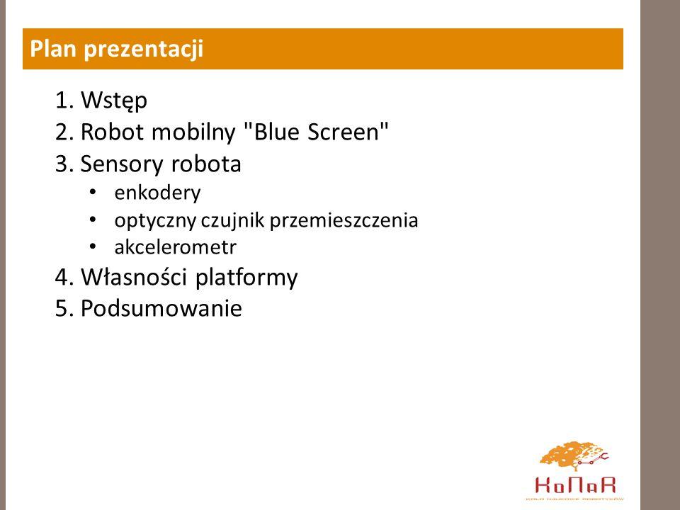 Robot mobilny Blue Screen Sensory robota