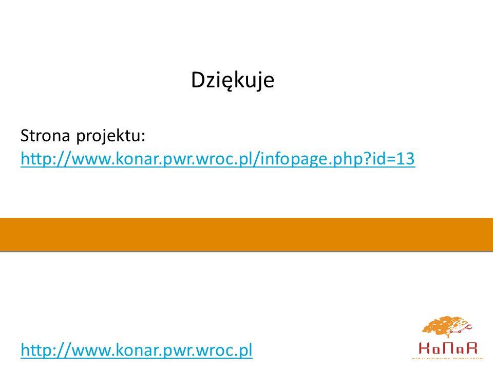 Dziękuje Strona projektu: