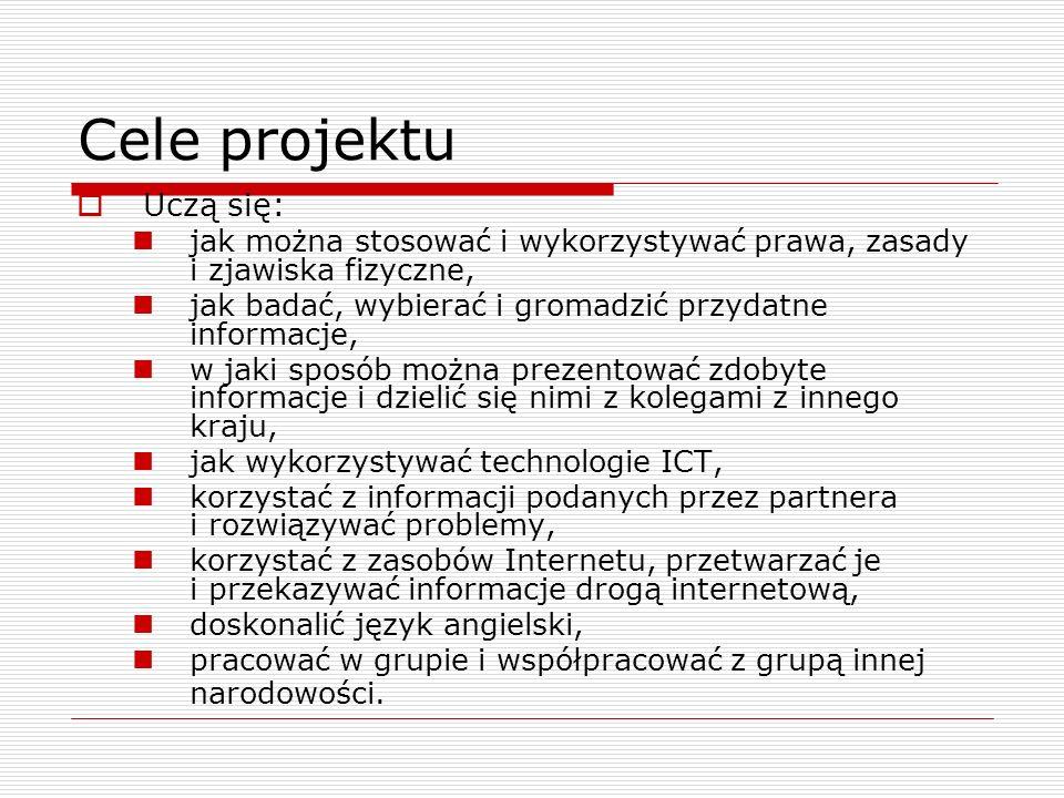 Cele projektu Uczą się: