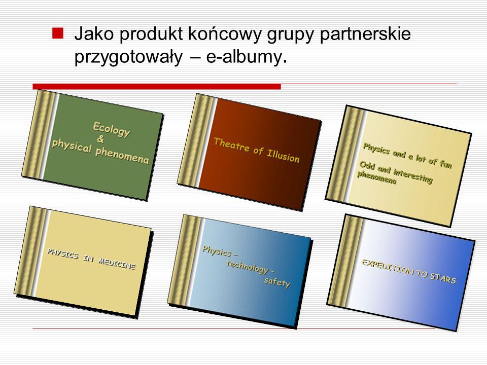 Jako produkt końcowy grupy partnerskie przygotowały – e-albumy.