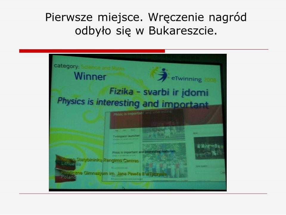 Pierwsze miejsce. Wręczenie nagród odbyło się w Bukareszcie.