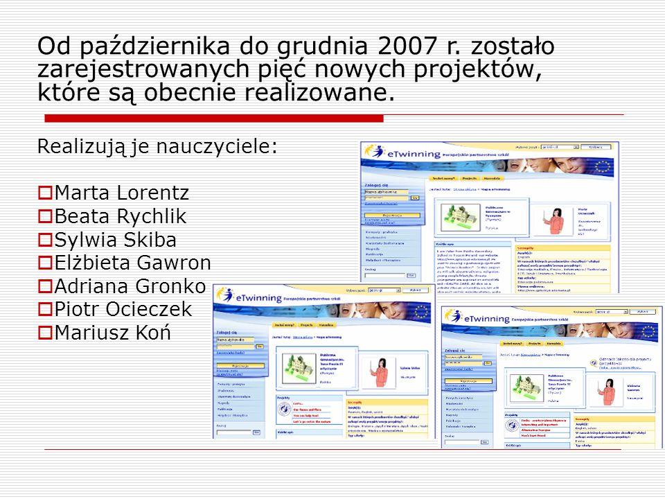 Od października do grudnia 2007 r