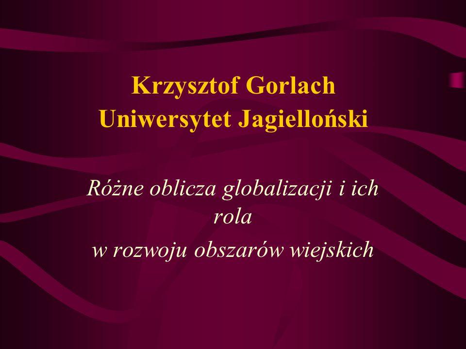 Krzysztof Gorlach Uniwersytet Jagielloński
