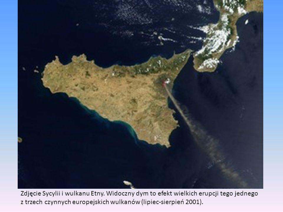 Zdjęcie Sycylii i wulkanu Etny