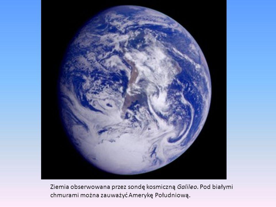 Ziemia obserwowana przez sondę kosmiczną Galileo