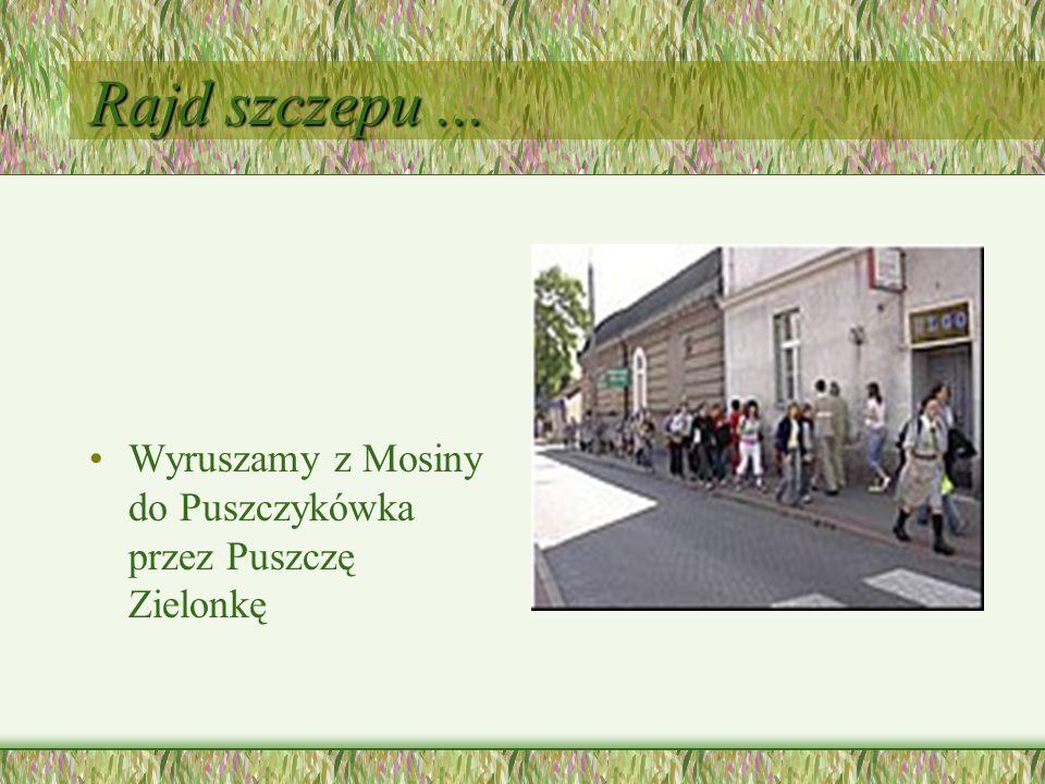 Rajd szczepu ... Wyruszamy z Mosiny do Puszczykówka przez Puszczę Zielonkę