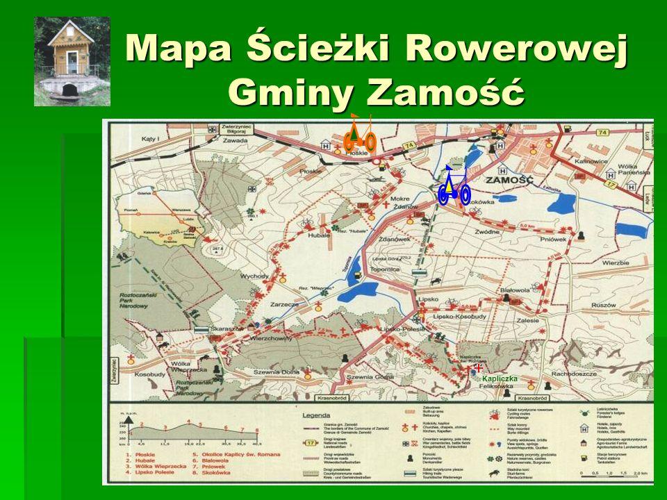 Mapa Ścieżki Rowerowej Gminy Zamość