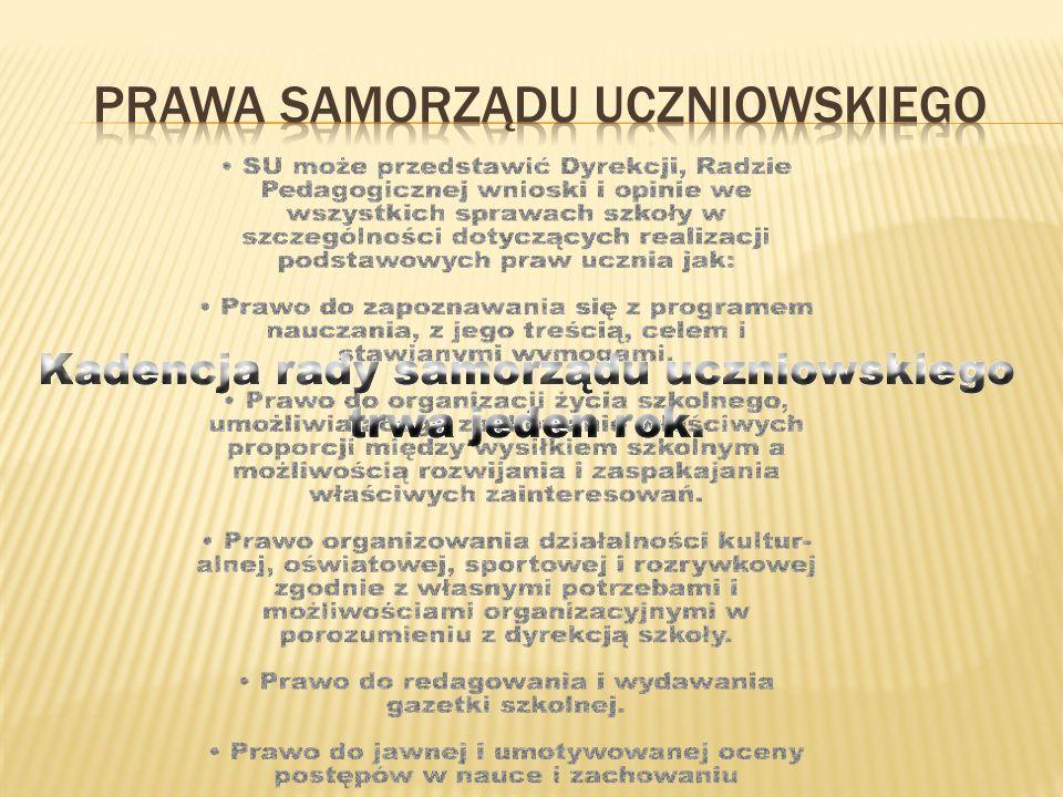 Prawa samorządu uczniowskiego