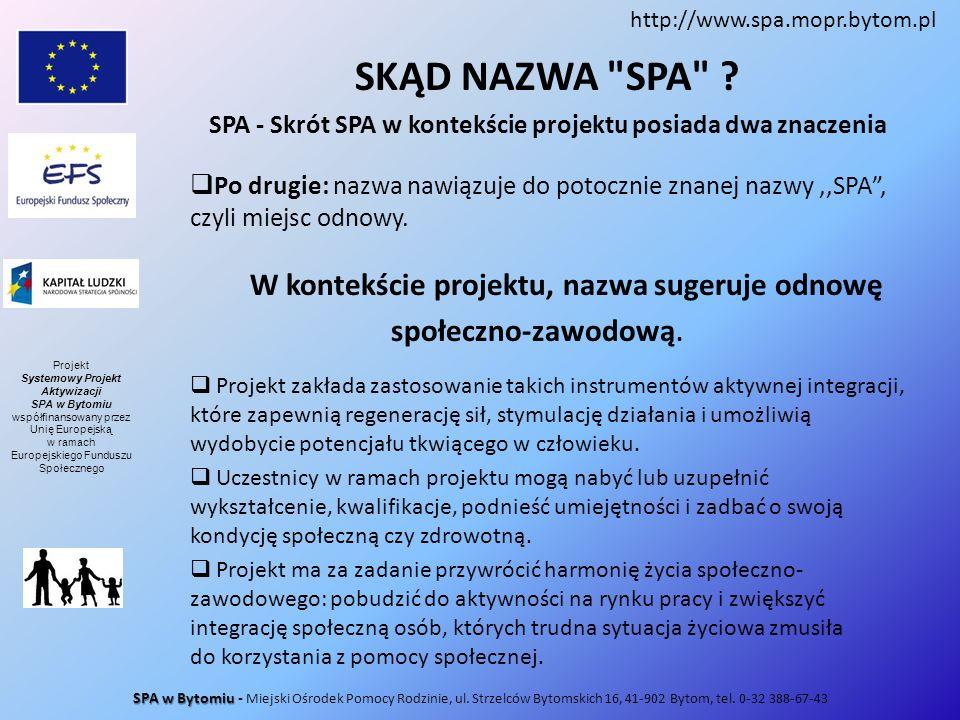 SPA - Skrót SPA w kontekście projektu posiada dwa znaczenia
