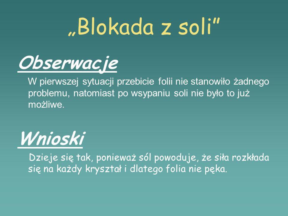 """""""Blokada z soli Obserwacje Wnioski"""