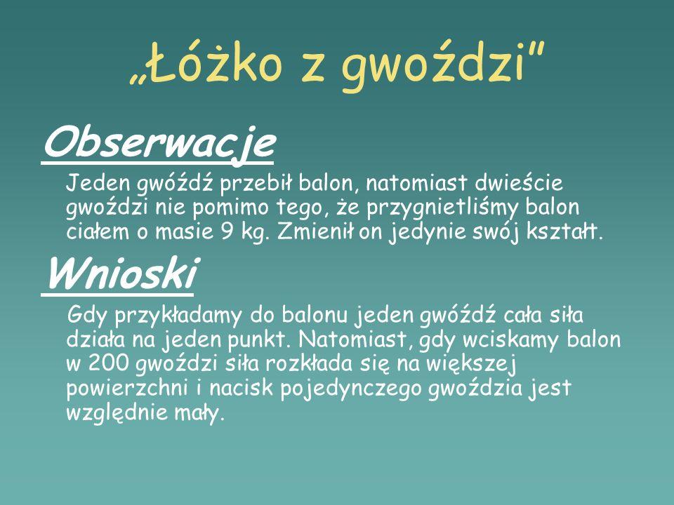 """""""Łóżko z gwoździ Obserwacje Wnioski"""