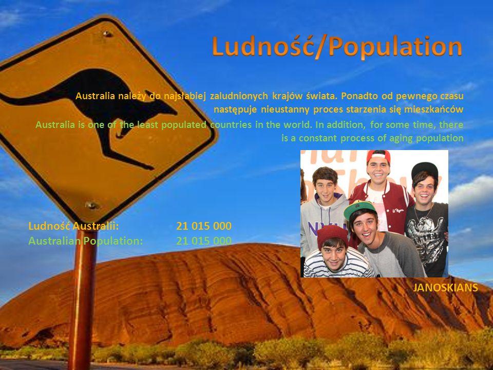 Ludność/Population Ludność Australii: 21 015 000