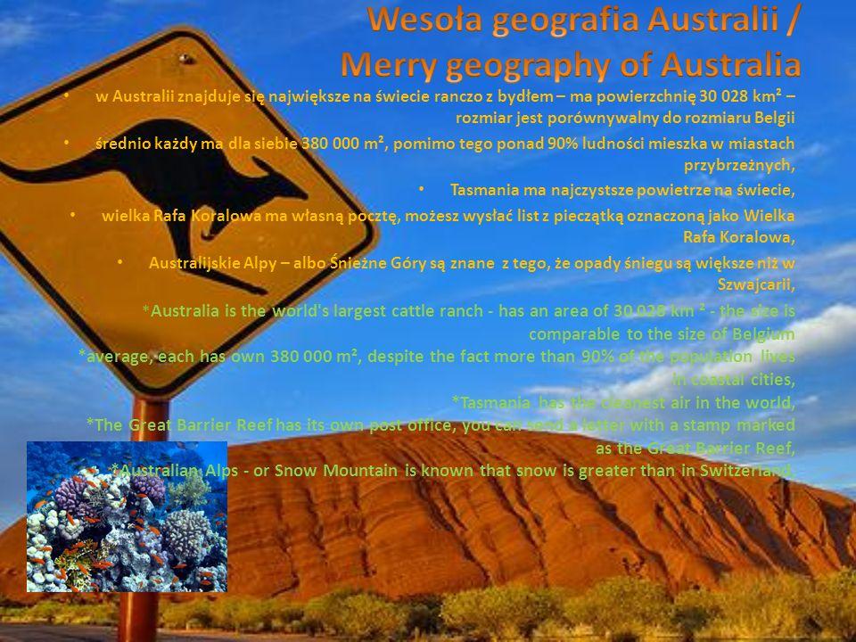 Wesoła geografia Australii / Merry geography of Australia