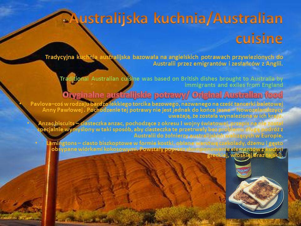 Australijska kuchnia/Australian cuisine