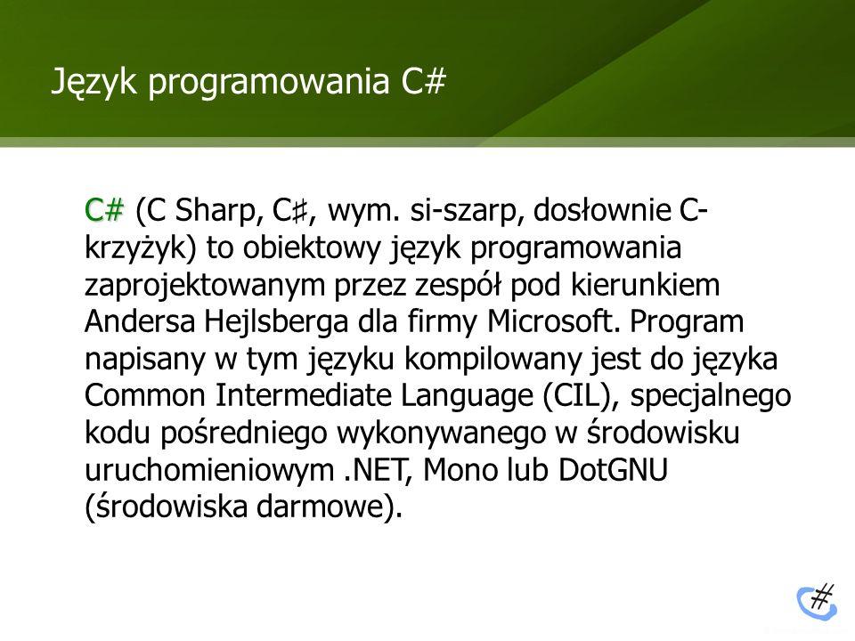 Język programowania C#