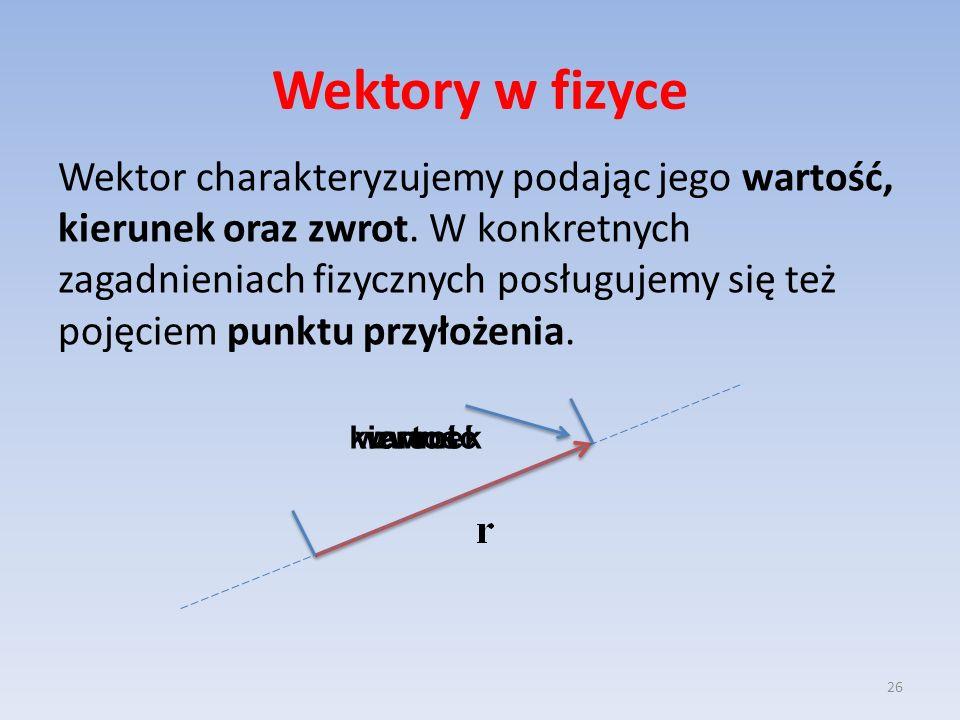 Wektory w fizyce