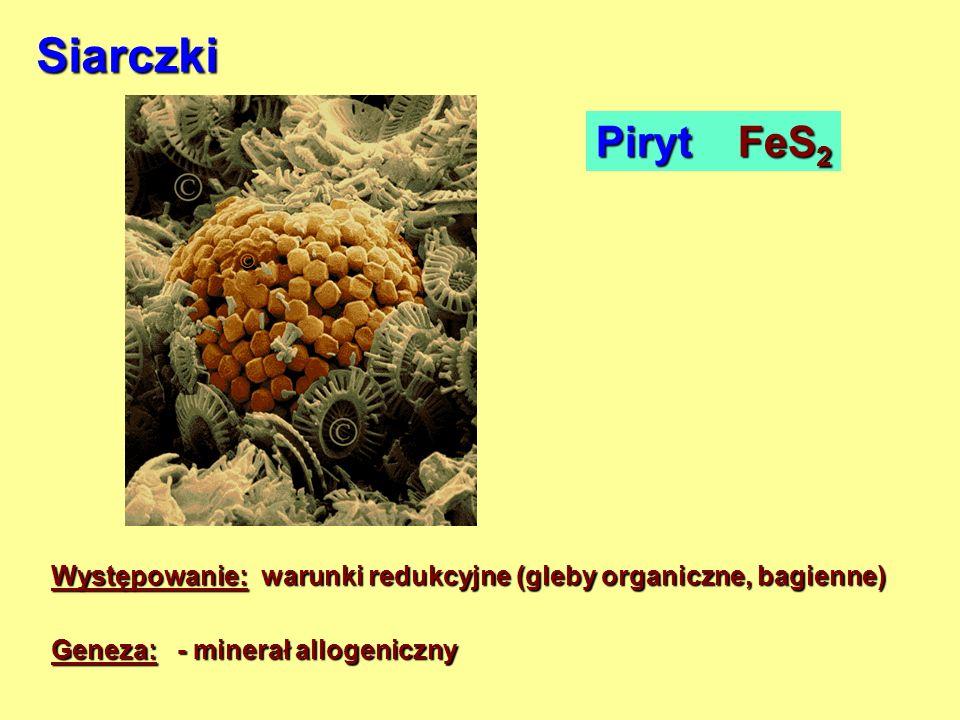 Siarczki Piryt FeS2.