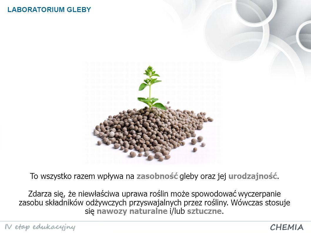 To wszystko razem wpływa na zasobność gleby oraz jej urodzajność.