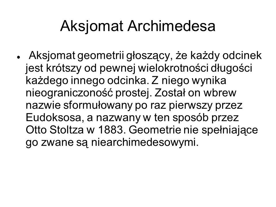 Aksjomat Archimedesa