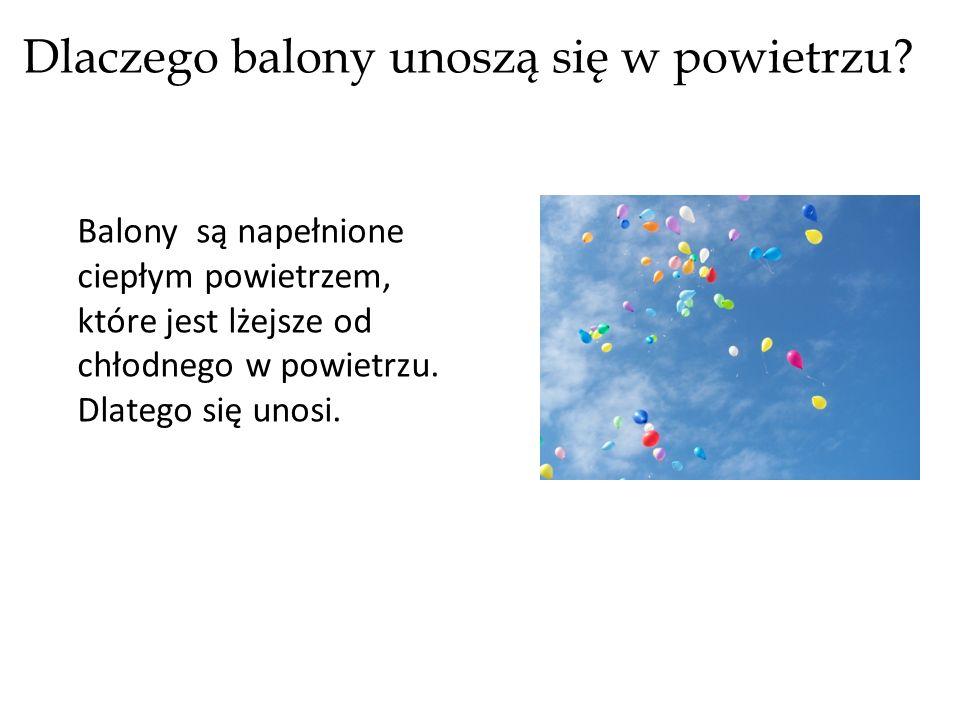 Dlaczego balony unoszą się w powietrzu