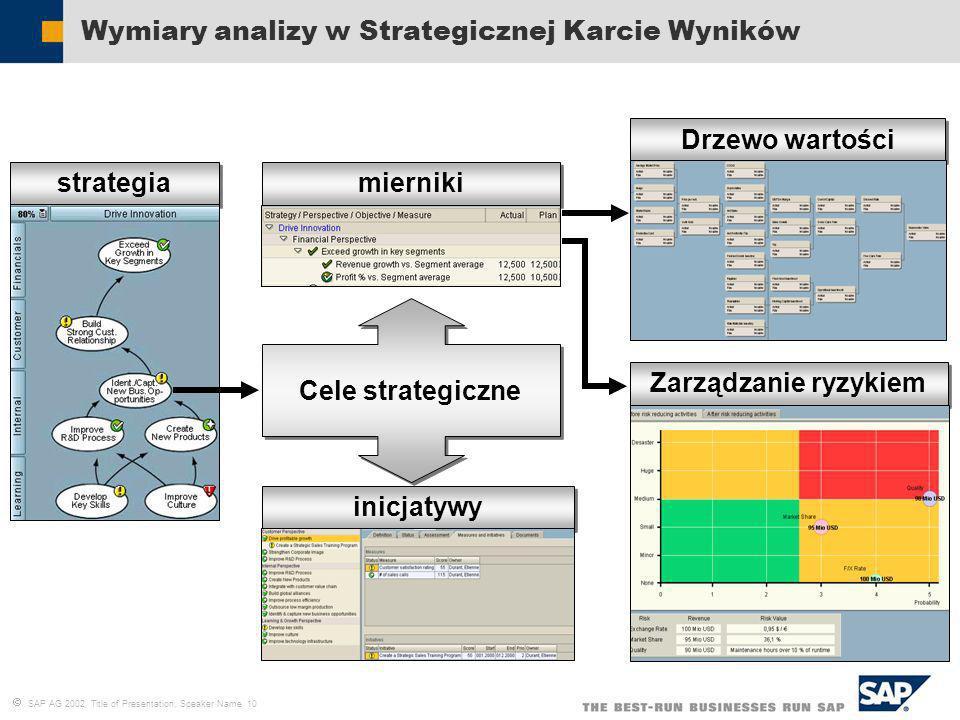 Wymiary analizy w Strategicznej Karcie Wyników