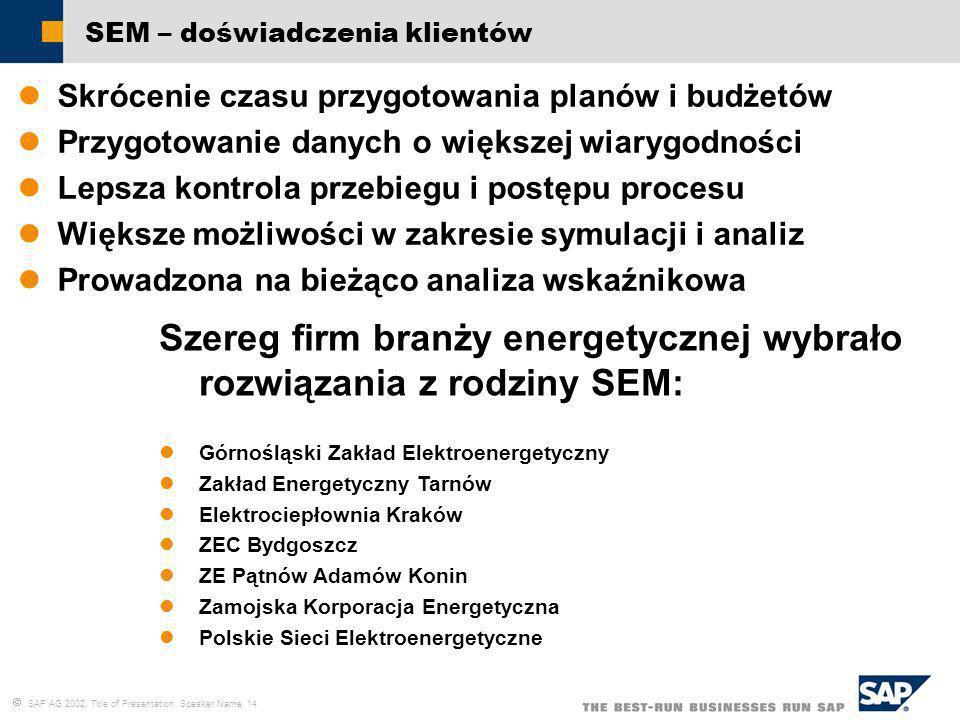 Szereg firm branży energetycznej wybrało rozwiązania z rodziny SEM: