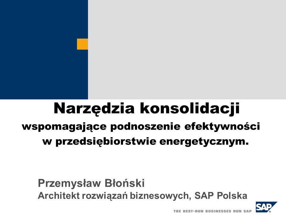 Przemysław Błoński Architekt rozwiązań biznesowych, SAP Polska